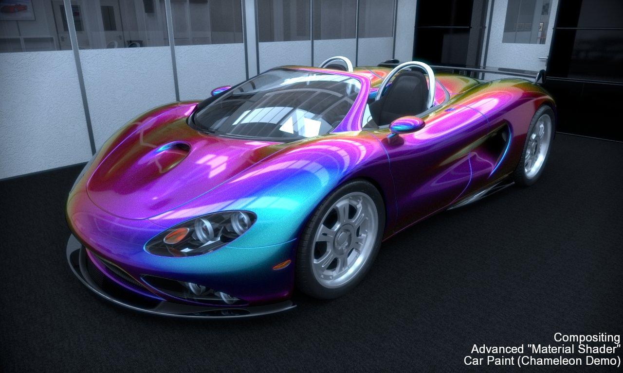 Red Purple Iridescent Car Paint